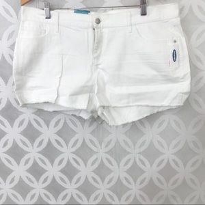 Old Navy White Low Rise Cut Off Shorts NWT